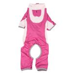 View Image 4 of Pet Life ACTIVE 'Warm-Pup' Performance Jumpsuit - Hot Pink and Light Pink