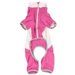 View Image 5 of Pet Life ACTIVE 'Warm-Pup' Performance Jumpsuit - Hot Pink and Light Pink