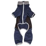 View Image 5 of Pet Life ACTIVE 'Warm-Pup' Performance Jumpsuit - Navy and Black