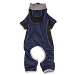 View Image 4 of Pet Life ACTIVE 'Warm-Pup' Performance Jumpsuit - Navy and Black