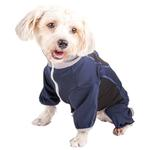 View Image 3 of Pet Life ACTIVE 'Warm-Pup' Performance Jumpsuit - Navy and Black