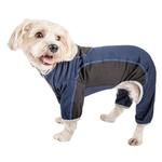View Image 1 of Pet Life ACTIVE 'Warm-Pup' Performance Jumpsuit - Navy and Black
