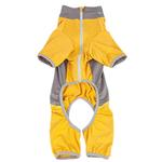 View Image 5 of Pet Life ACTIVE 'Warm-Pup' Performance Jumpsuit - Yellow and Gray
