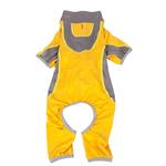 View Image 4 of Pet Life ACTIVE 'Warm-Pup' Performance Jumpsuit - Yellow and Gray