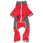 View Image 5 of Pet Life ACTIVE 'Warm-Pup' Performance Jumpsuit - Red and Gray