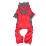 View Image 4 of Pet Life ACTIVE 'Warm-Pup' Performance Jumpsuit - Red and Gray