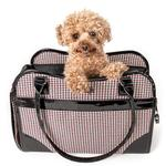 View Image 1 of Pet Life 'Exquisite' Airline-Approved Designer Travel Dog Carrier - Houndstooth Multi