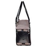 View Image 6 of Pet Life 'Exquisite' Airline-Approved Designer Travel Dog Carrier - Houndstooth Multi