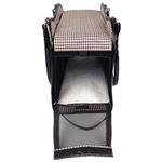 View Image 9 of Pet Life 'Exquisite' Airline-Approved Designer Travel Dog Carrier - Houndstooth Multi