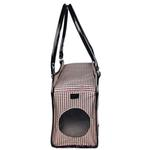View Image 7 of Pet Life 'Exquisite' Airline-Approved Designer Travel Dog Carrier - Houndstooth Multi
