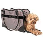 View Image 2 of Pet Life 'Exquisite' Airline-Approved Designer Travel Dog Carrier - Houndstooth Multi
