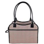 View Image 5 of Pet Life 'Exquisite' Airline-Approved Designer Travel Dog Carrier - Houndstooth Multi
