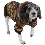 View Image 2 of Pet Life Fashion Pet Parka Dog Coat - Forest Camouflage