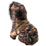 View Image 3 of Pet Life Fashion Pet Parka Dog Coat - Forest Camouflage