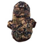 View Image 5 of Pet Life Fashion Pet Parka Dog Coat - Forest Camouflage