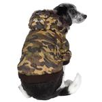View Image 1 of Pet Life Fashion Pet Parka Dog Coat - Forest Camouflage