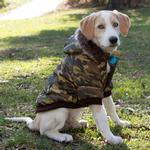 View Image 6 of Pet Life Fashion Pet Parka Dog Coat - Forest Camouflage