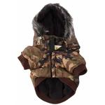 View Image 4 of Pet Life Fashion Pet Parka Dog Coat - Forest Camouflage