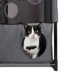 View Image 2 of Pet Life 'Kitty-Square' Collapsible Cat Playhouse Lounger - Pink and Gray