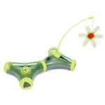 View Image 1 of Pet Life 'Kitty-Tease' Interactive Cat Tunnel Toy - Green