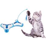 View Image 2 of Pet Life 'Kitty-Tease' Interactive Cat Tunnel Toy - Blue