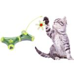 View Image 2 of Pet Life 'Kitty-Tease' Interactive Cat Tunnel Toy - Green