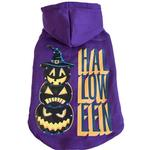 View Image 1 of Pet Life LED Lighting Halloween Snowman Dog Hoodie - Purple