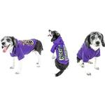 View Image 7 of Pet Life LED Lighting Halloween Snowman Dog Hoodie - Purple
