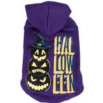 View Image 2 of Pet Life LED Lighting Halloween Snowman Dog Hoodie - Purple