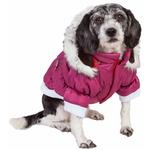 View Image 1 of Pet Life Metallic Ski Parka Dog Coat - Pink