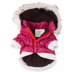 View Image 6 of Pet Life Metallic Ski Parka Dog Coat - Pink