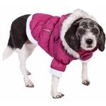 View Image 2 of Pet Life Metallic Ski Parka Dog Coat - Pink
