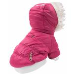 View Image 3 of Pet Life Metallic Ski Parka Dog Coat - Pink