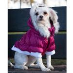 View Image 4 of Pet Life Metallic Ski Parka Dog Coat - Pink