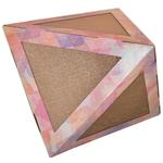 View Image 1 of Pet Life 'Triangular Puzzle' Designer Kitty Cat Scratcher Lounge and House with Catnip