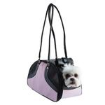 View Image 1 of Petote Roxy Dog Carrier Handbag - Pink & Black