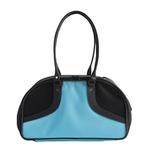 View Image 2 of Petote Roxy Dog Carrier Handbag - Turquoise & Black