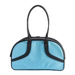 View Image 3 of Petote Roxy Dog Carrier Handbag - Turquoise & Black