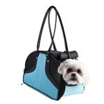 View Image 1 of Petote Roxy Dog Carrier Handbag - Turquoise & Black