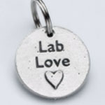 View Image 1 of Pewter Dog Collar Charm: Lab Love