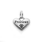 View Image 1 of Pewter Dog Collar Charm or Cat Collar Charm: Precious