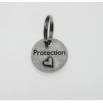 View Image 1 of Pewter Dog Collar Charm or Cat Collar Charm: Protection Heart