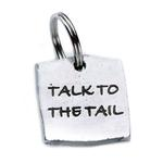 View Image 2 of Pewter Dog Collar Charm or Cat Collar Charm: Talk to the Tail