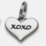 View Image 1 of Pewter Dog Collar Charm Charm: XOXO (Hugs & Kisses)