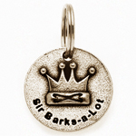 View Image 1 of Pewter Dog Collar Charm: Sir Barks A Lot