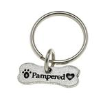 View Image 1 of Pewter Pet Lover Keychain - Pampered