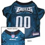 View Image 1 of Philadelphia Eagles Officially Licensed Dog Jersey - Midnight Green