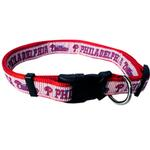 View Image 1 of Philadelphia Phillies Officially Licensed Ribbon Dog Collar