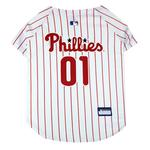 View Image 1 of Philadelphia Phillies Officially Licensed Dog Jersey - Pinstripe