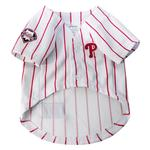 View Image 2 of Philadelphia Phillies Officially Licensed Dog Jersey - Pinstripe